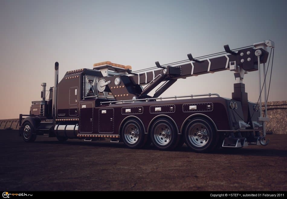 Kenworth W900l Heavy Towtruck