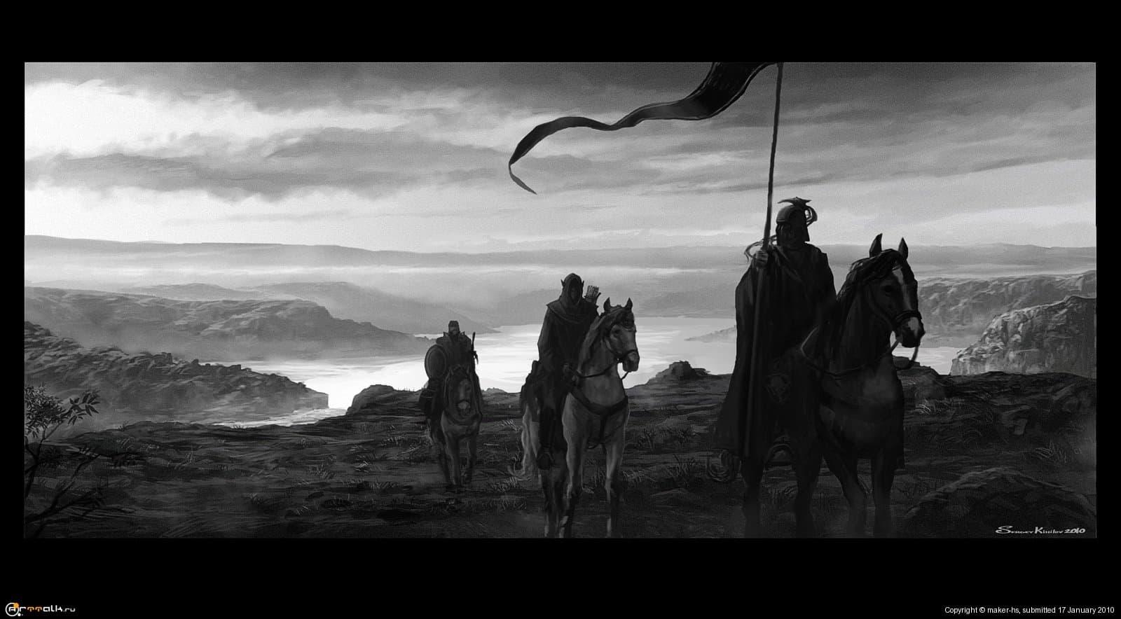 Союзники (человек, эльф и гном)