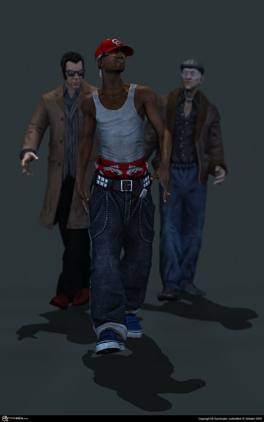 Street Gang Solder And Londonier Gang Leader And Russian Mafia Soldier From Crime Craft