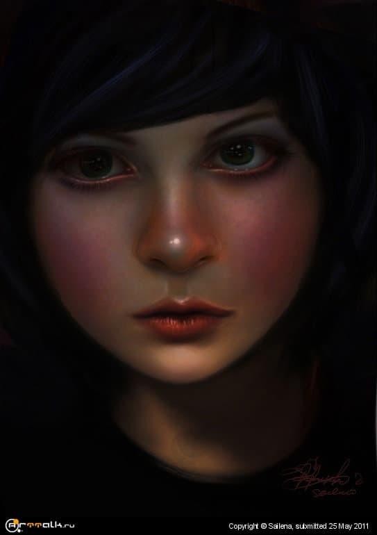 девушка со  Сказка в глазах
