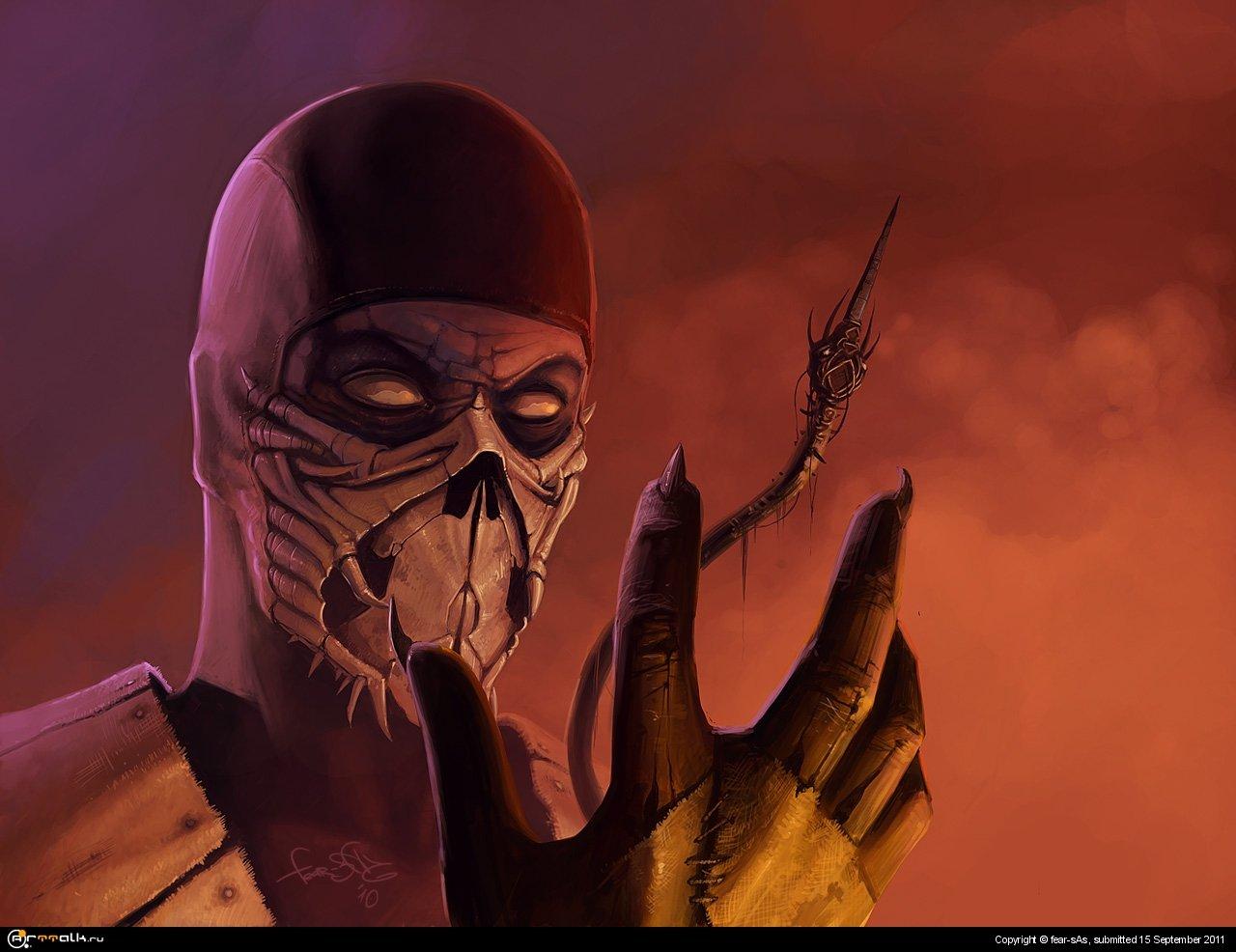 Mortal Kombat фан арт (Скорпион)
