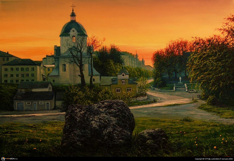 вечерний городок