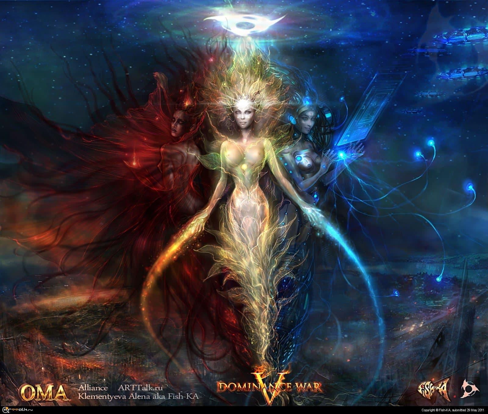 Богиня ОМА.Богиня возрождения к жизни погибающих апокалиптических миров.