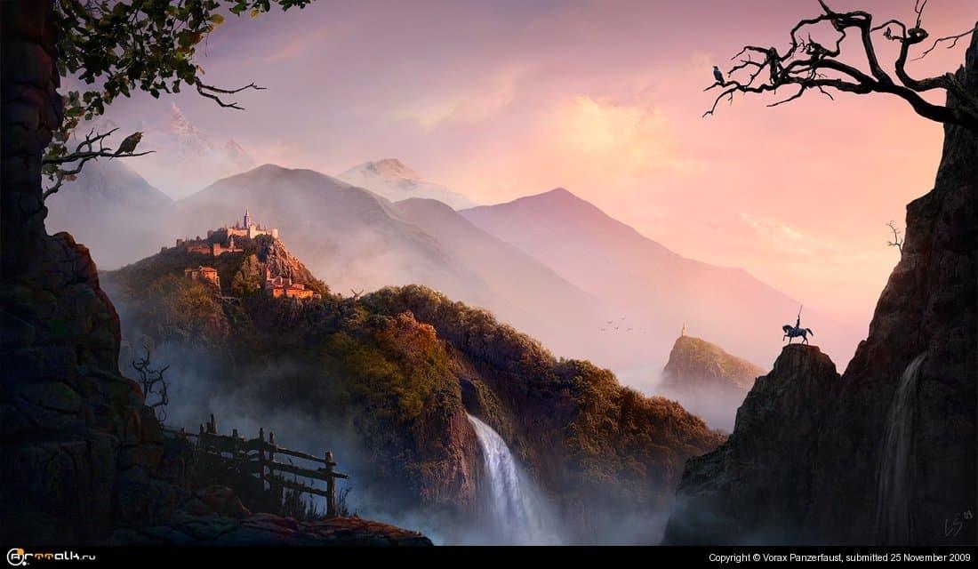 Golden Sunrise In Fairy Land
