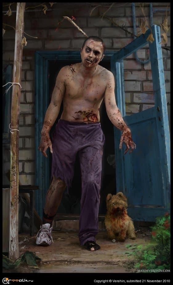 Зомби автопортрет