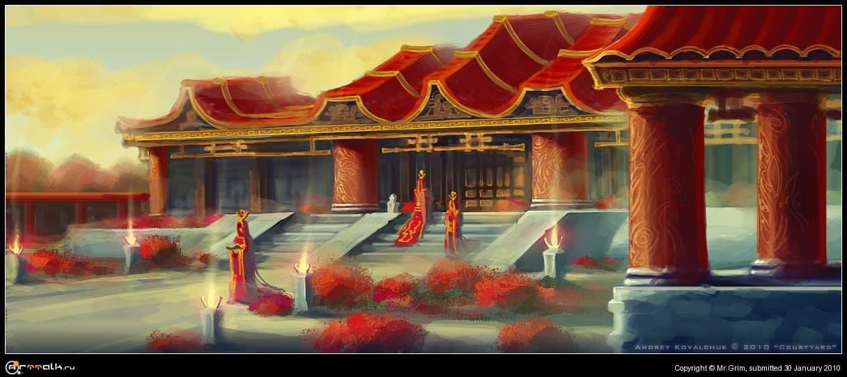 Внутренний двор храма знаний