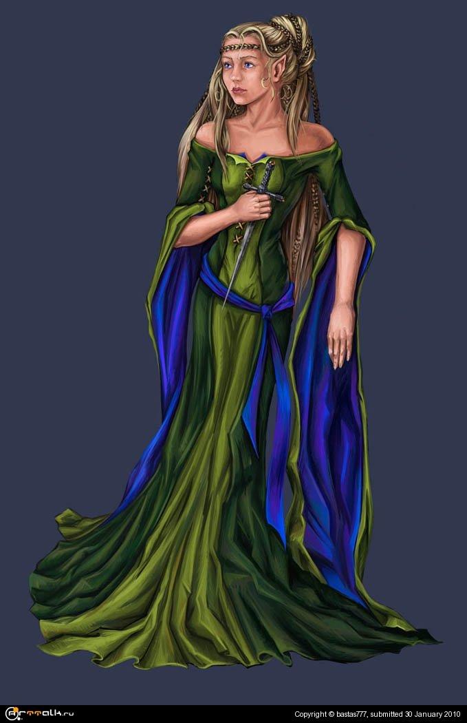 Испуганная Эльфийка