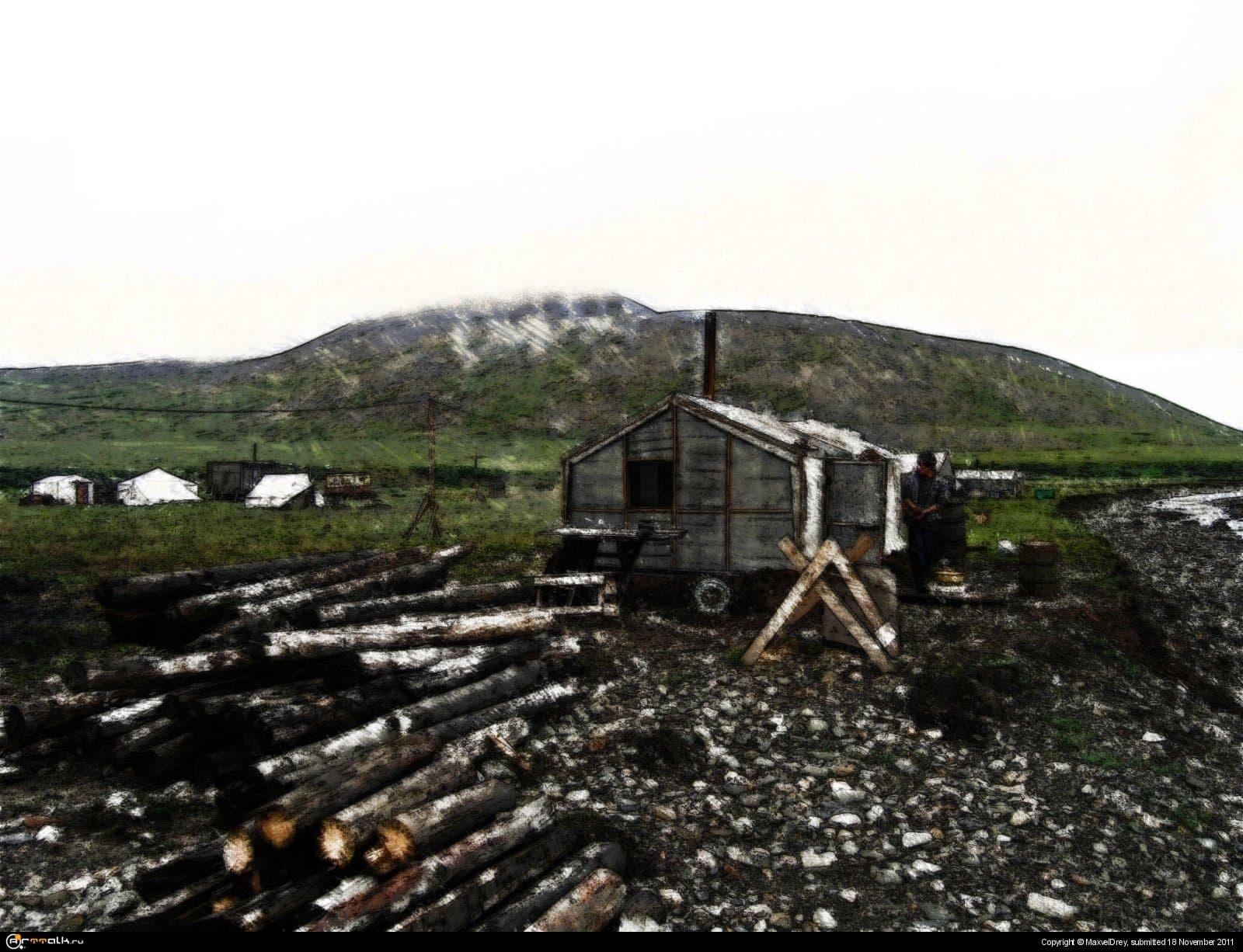Лагерь лесников