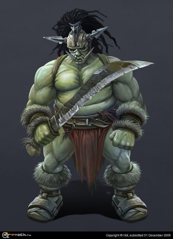 Орк с мечом