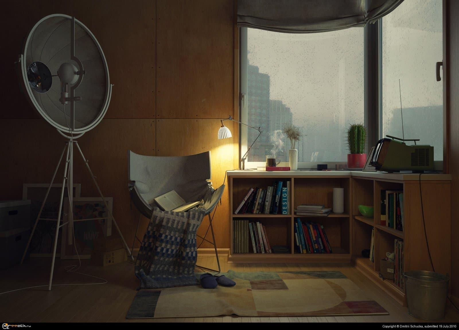 Комната для чтения книг