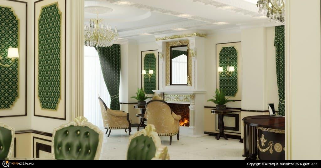 Бошьшой кабинет в классическом стиле