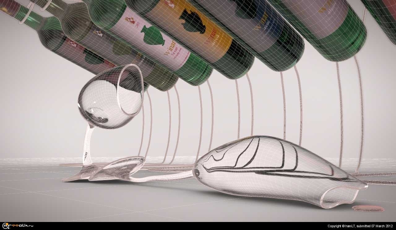Tv Commercial For Wine Winar By Human3dstudio