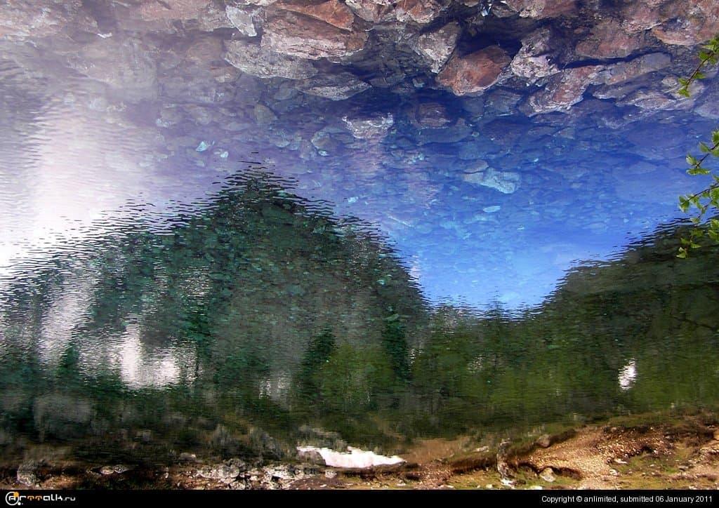 горы-небо-озеро