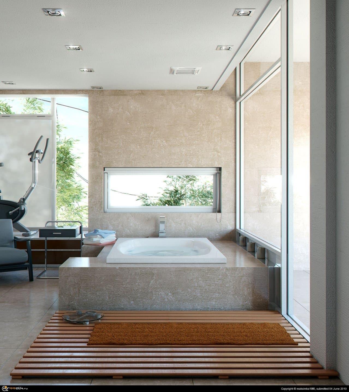 Ванная комната (дневное освещение Mental Ray)