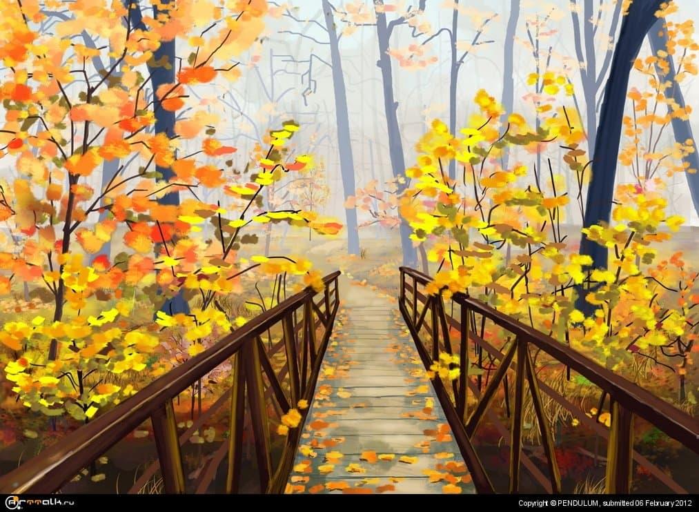 Осень, туман
