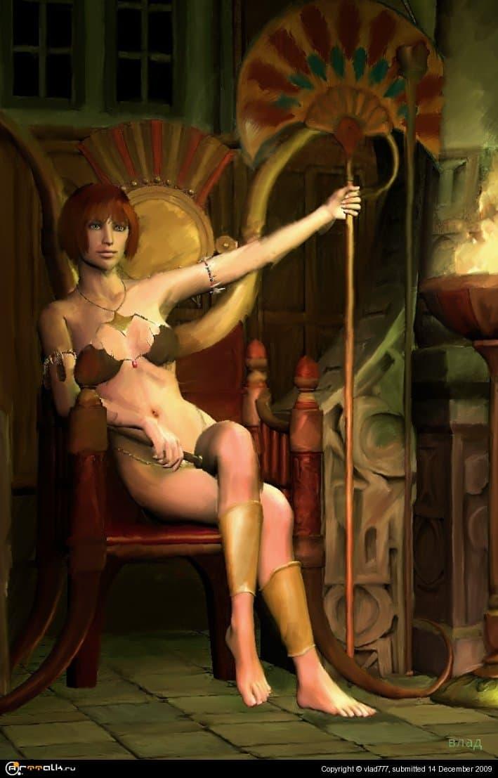 красотка на троне