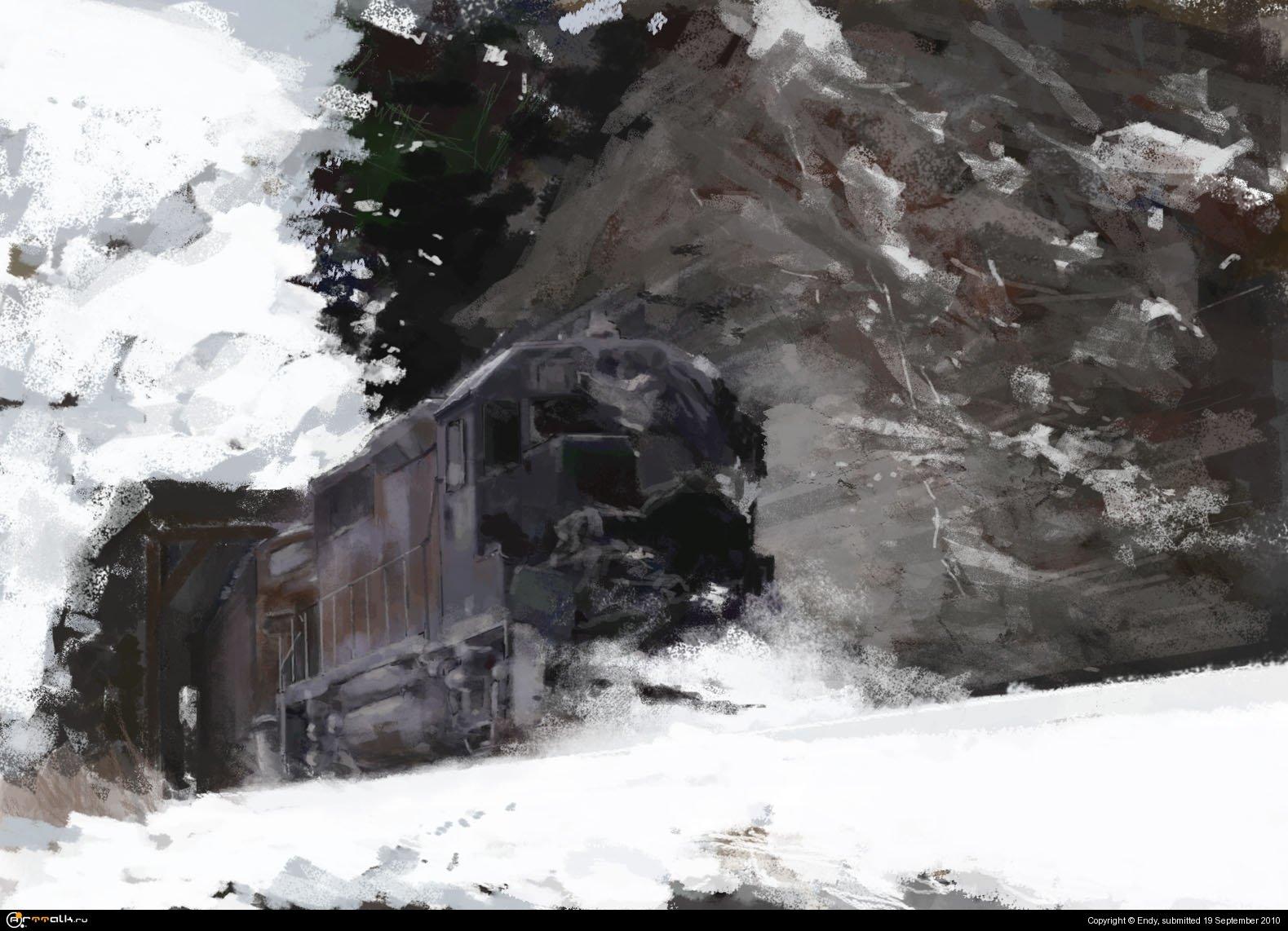 поезд-беглец(кадр из фильма Андрея Кончаловского)