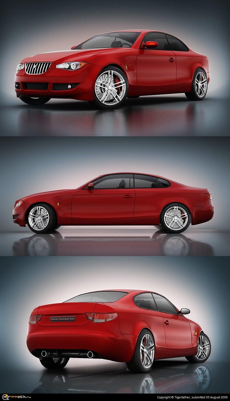 Hunter. European Style Concept Car.