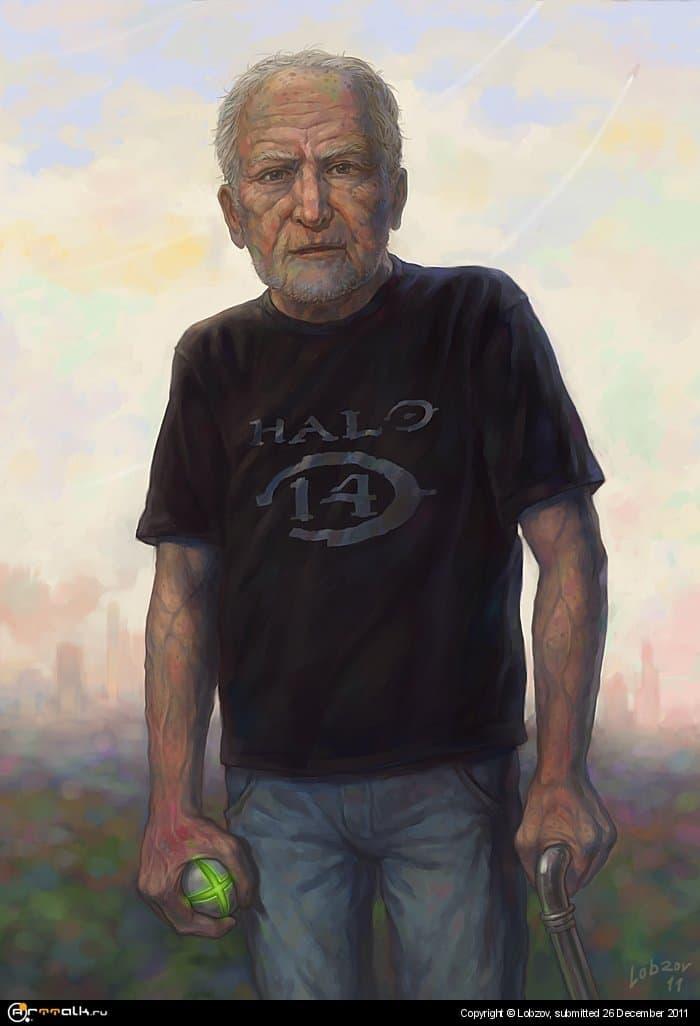 Геймер в старости.