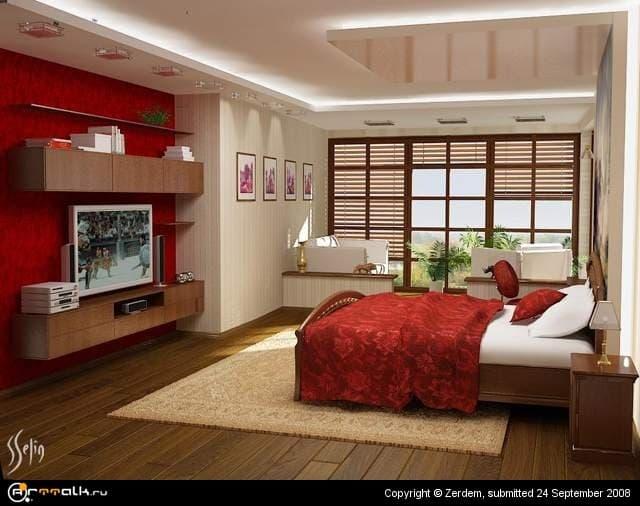 спальня red