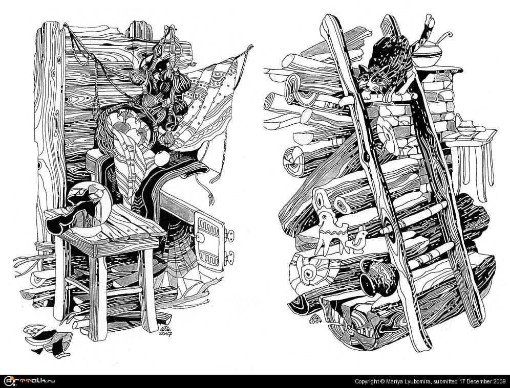 "Иллюстрации к книге Наталі Баклай ""Отава"" (разделы 3,4)"