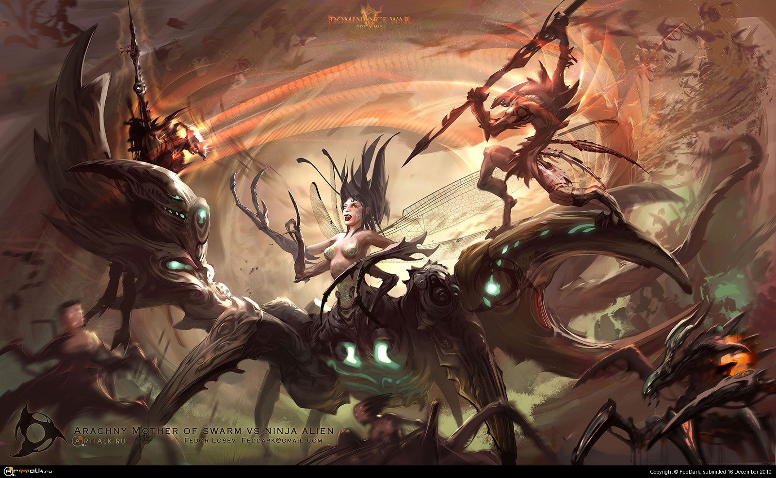 Arachny Mother Of Swarm Vs Ninja Alien
