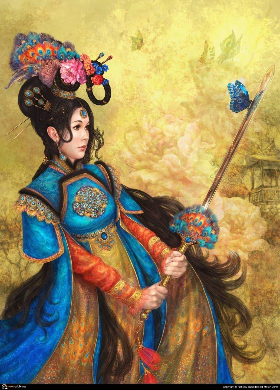 """Китайская принцесса """"павлиний глаз"""""""