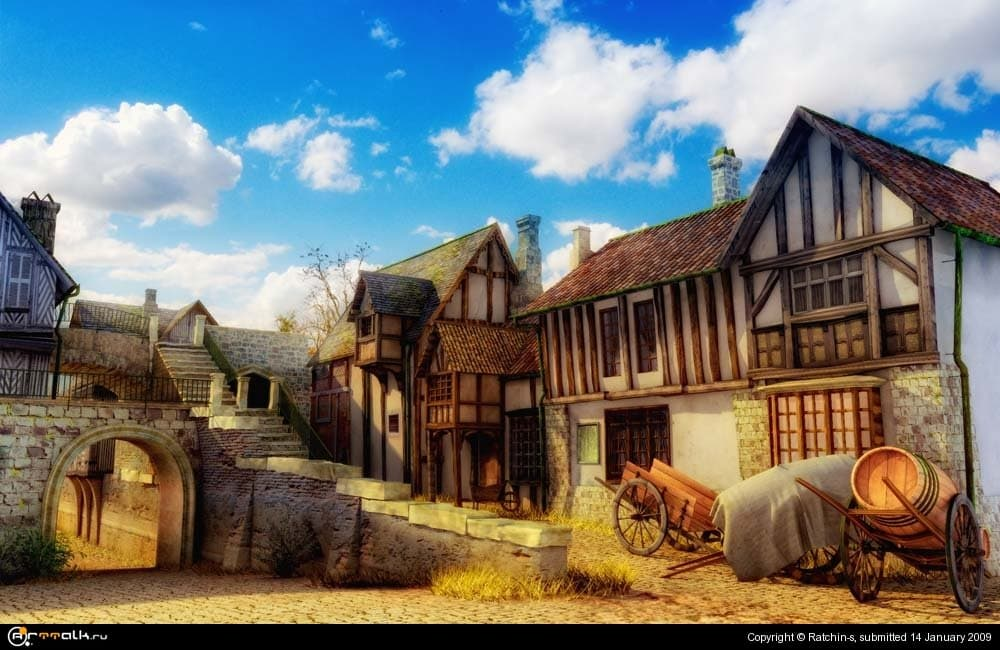 старый европейский город