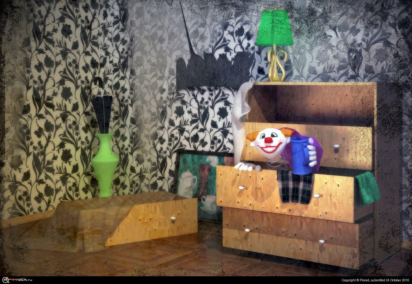 Клоун из тумбы