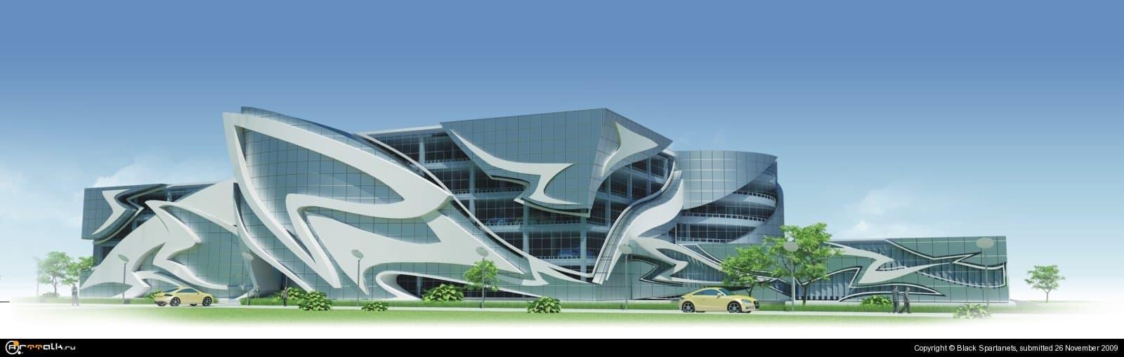 Проект гаража на 222 автомобиля.