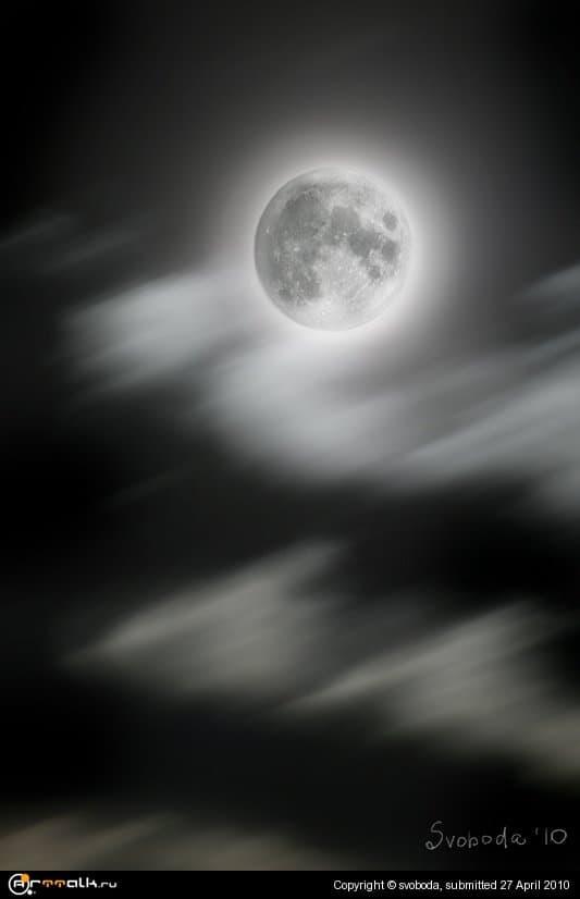 луна сегодня ночью в 2:00...