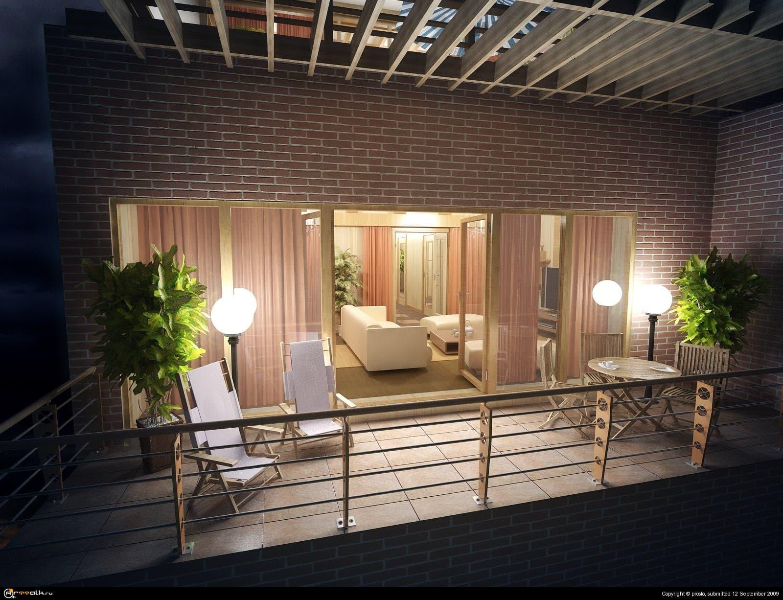Нижний балкон