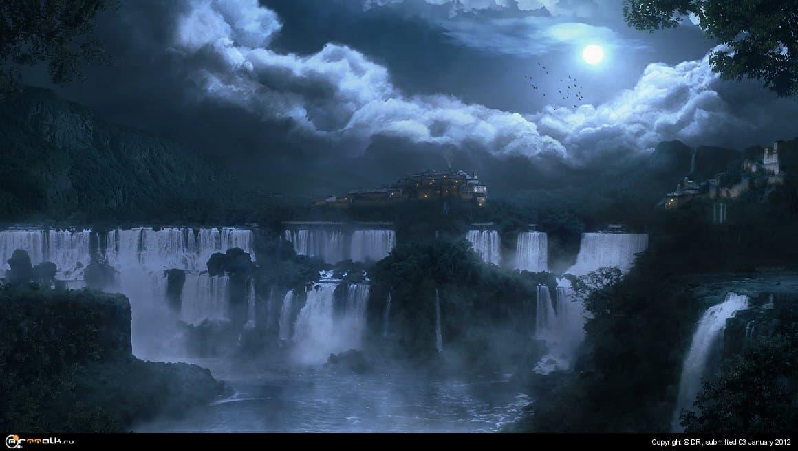 Ночь у водопадов