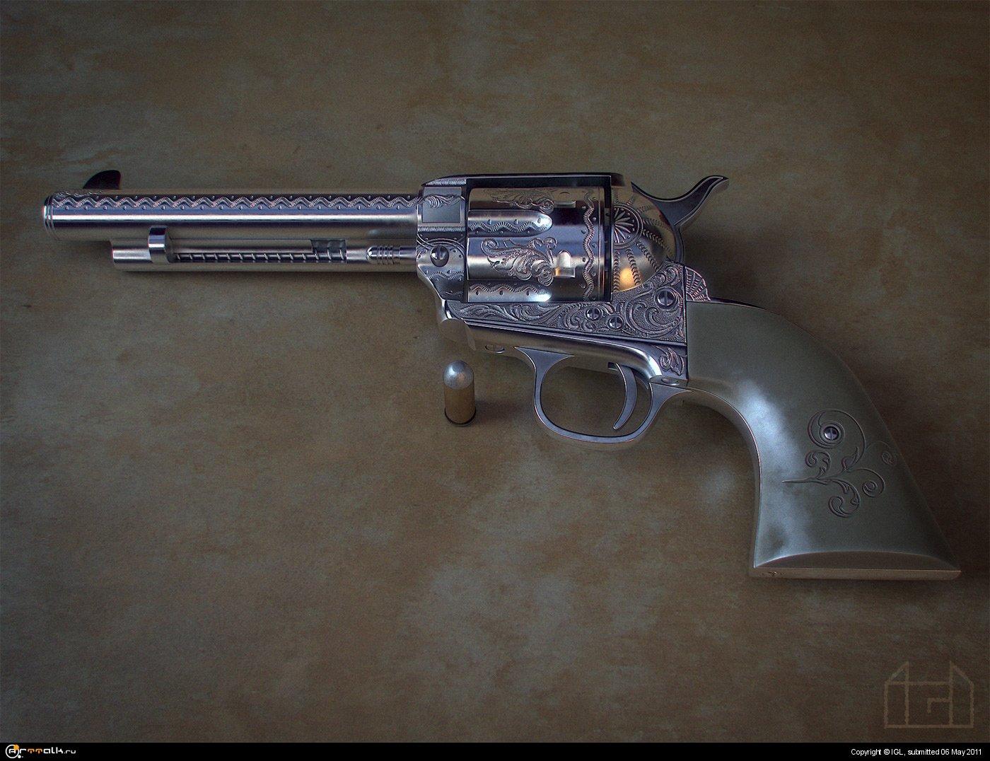 Colt Single Action Army (также известный как Миротворец) и Colt Anaconda
