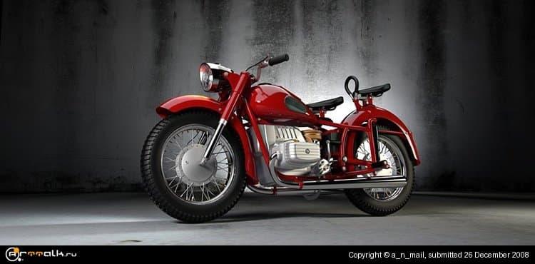 "Мотоцикл-тяжеловес \""Днепр К-650\"""