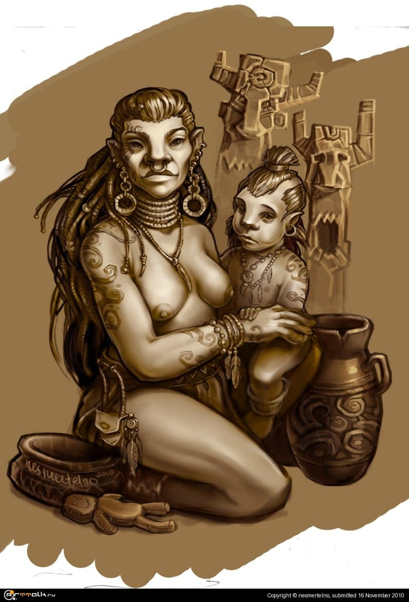 The Young Orcness With First-born