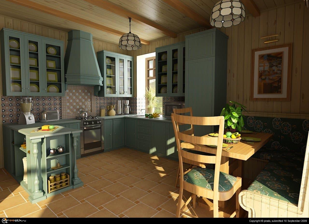 Домик в горах. Кухня.