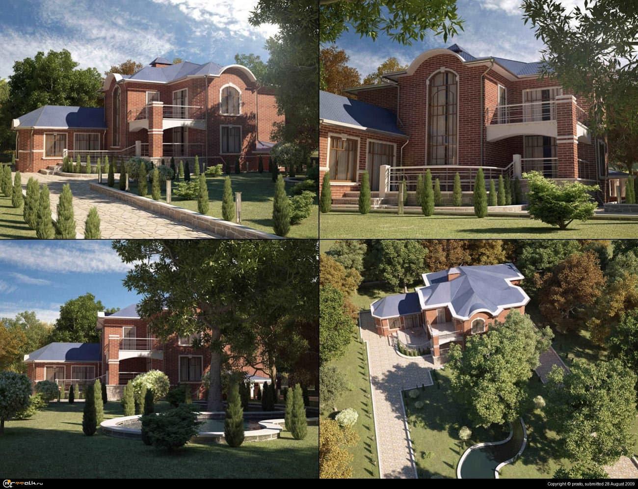 Анимация загородной резиденции