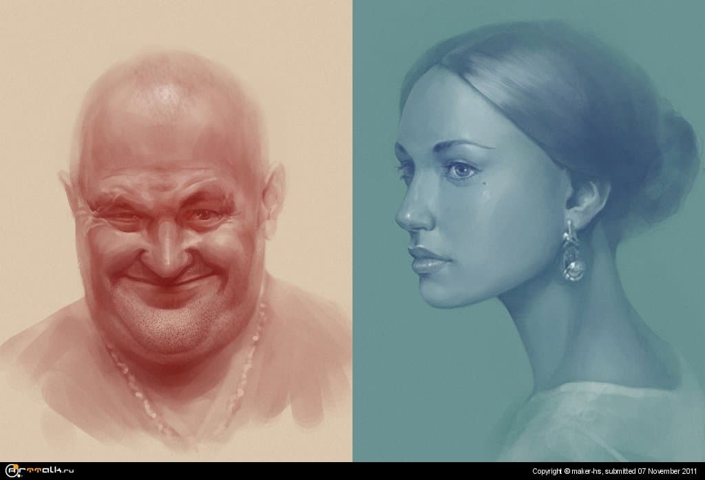 Портреты (Браток и красавица) =)