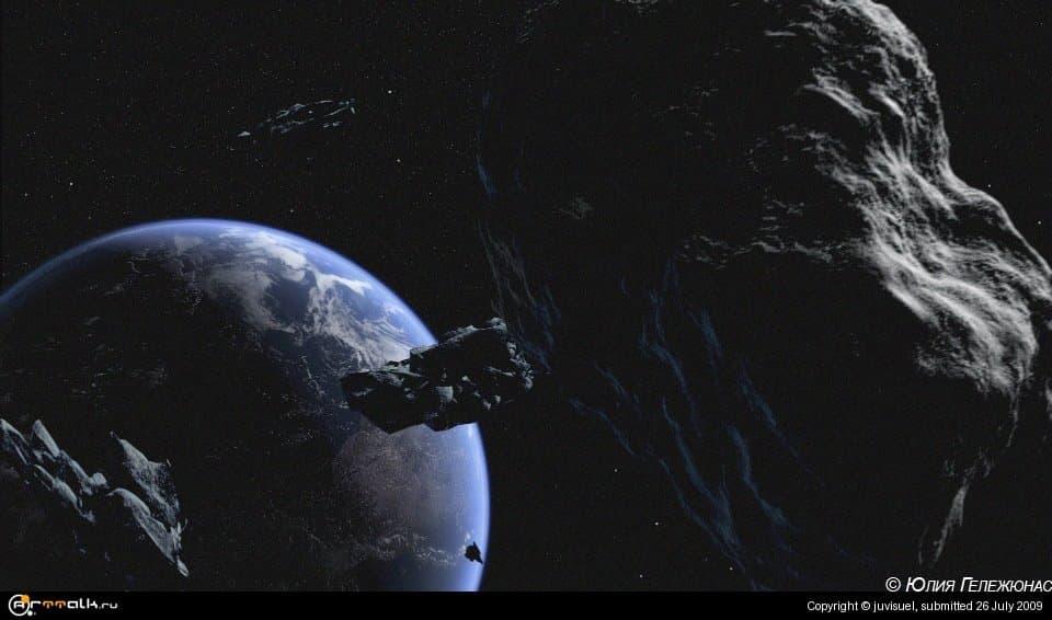 летящий метеорит