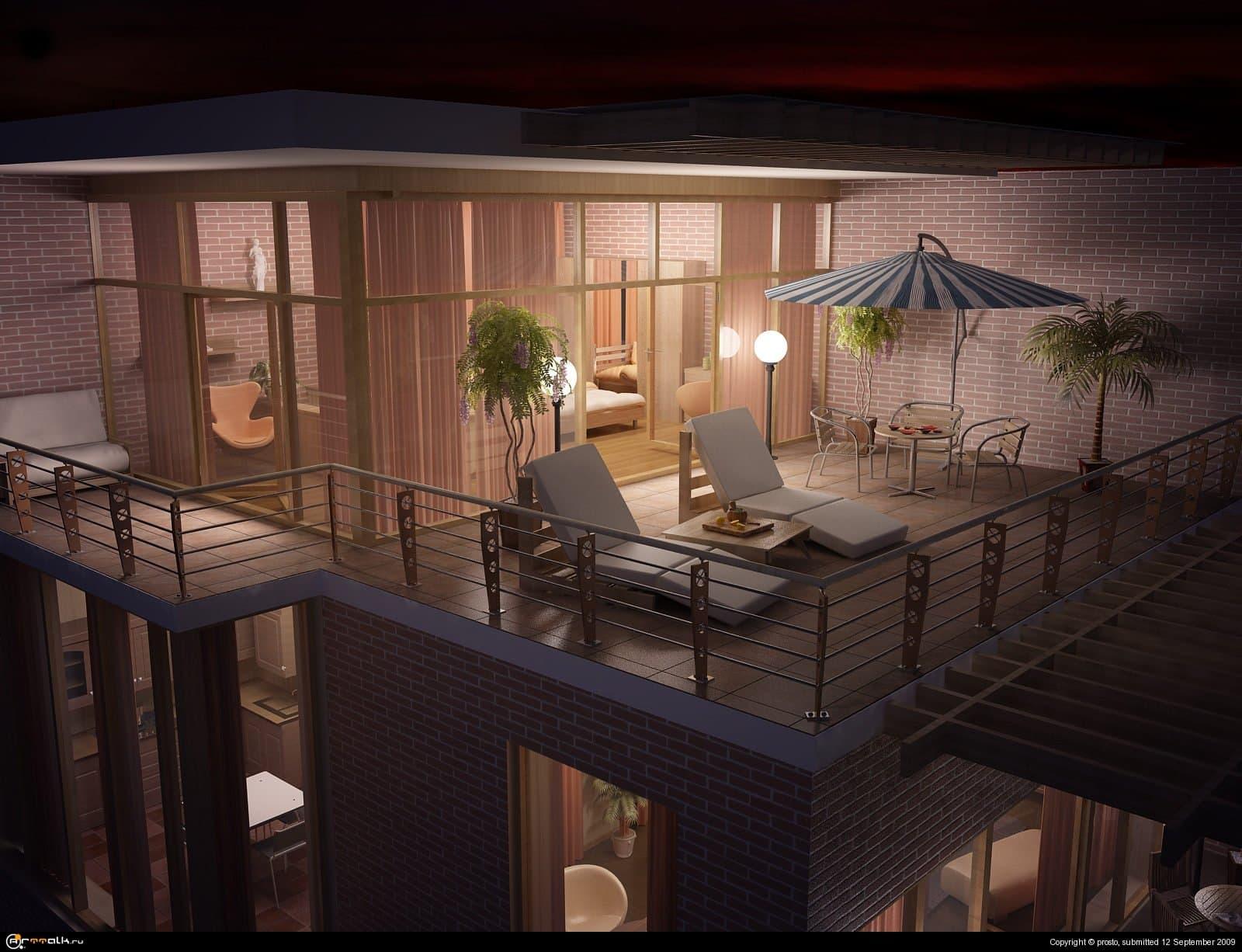 Верхний балкон