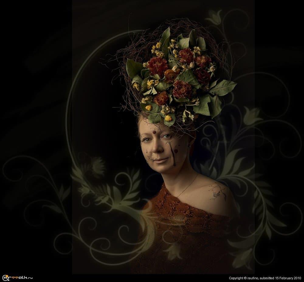 Цветочная дама