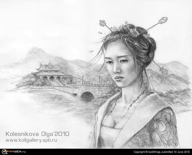 Портрет азиатки