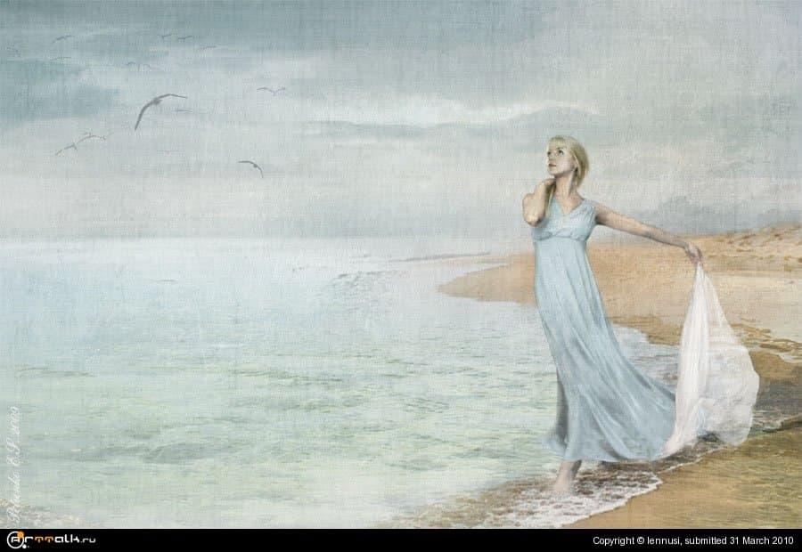 Я жду тебя у моря в тишине...