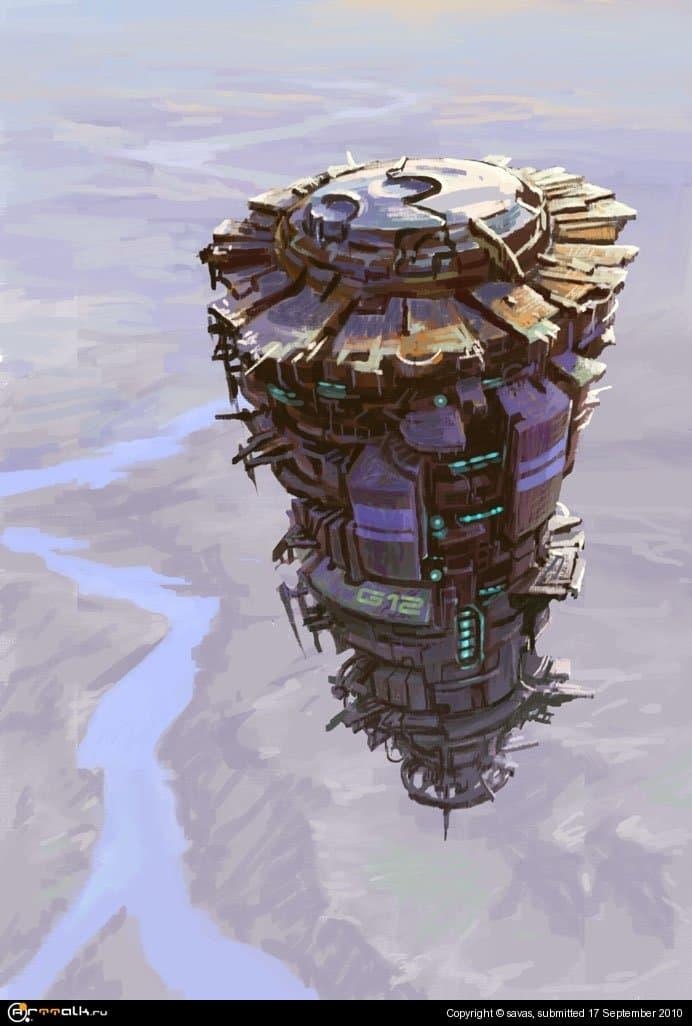 """Стратосферная станция \""""camomile\"""" над планетой Вонде"""