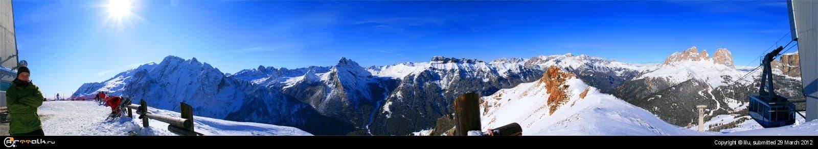 Доломитовы альпы. Панарама