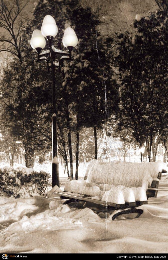 Зимний парк ретро
