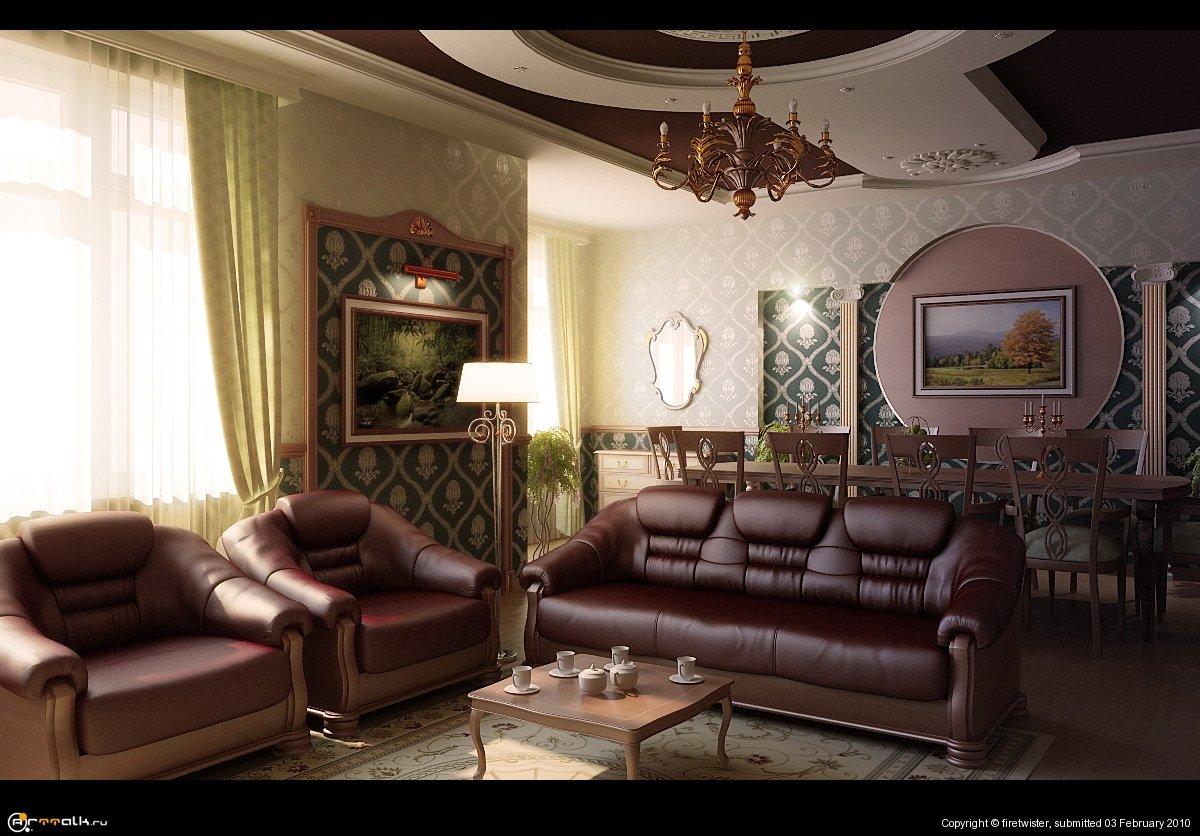 Дизайн гостинной Vr.2