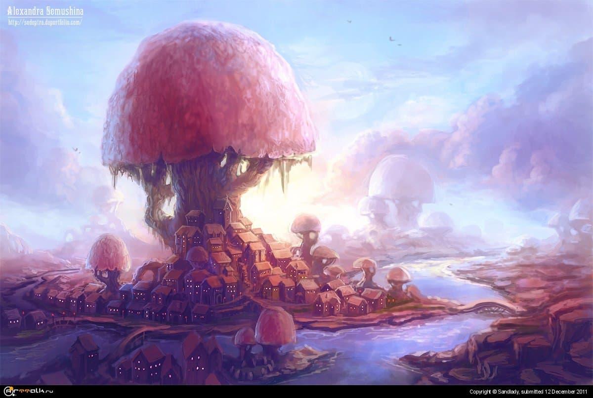 Город под грибом