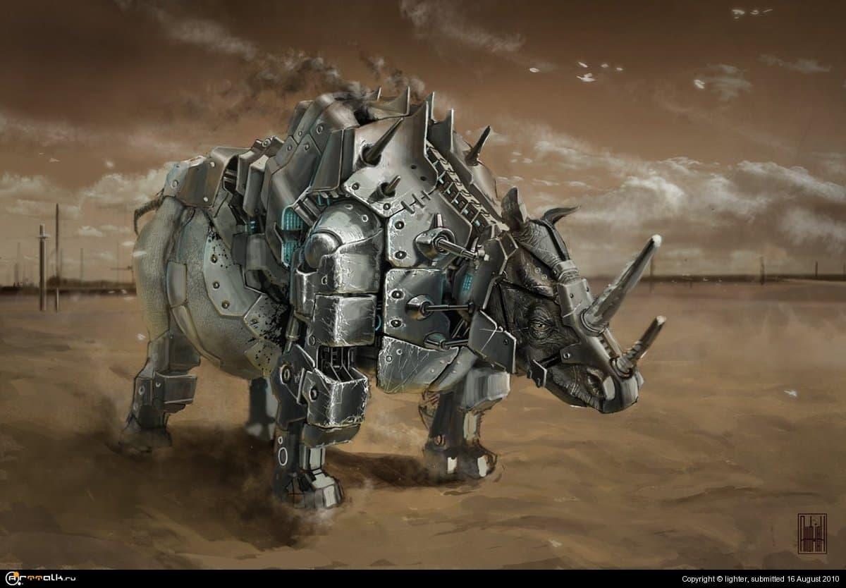 биомеханический носорог